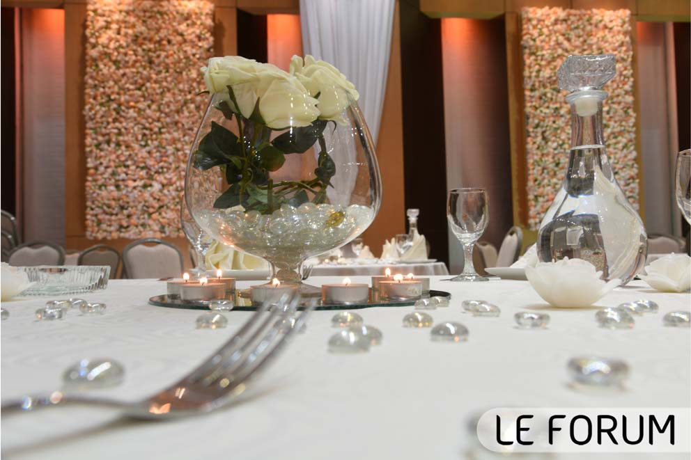 Centre de table mariage attable Le Forum (3)